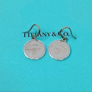 Retired Silver RTT Tag Tiffany Dangle Earrings